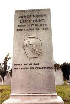 Photo of Leigh Hunt's grave
